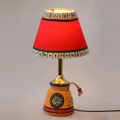 ExclusiveLane 10 Inch Warli Handpainted Table Lamp