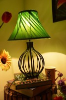 Yashasvi Decor Table Lamp(30 cm, Green)