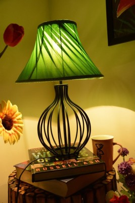 Yashasvi Decor Table Lamp(30 cm, Green)
