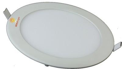 Ekka 12W LED Recessed Slim Panel Light (Round) Night Lamp
