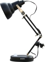 Wemex Matte Black Table Lamp(52 cm, Black)