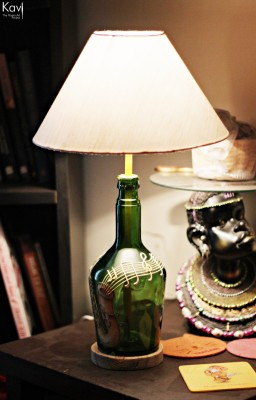 Kavi The Poetry Art Project Saxophone Table Lamp