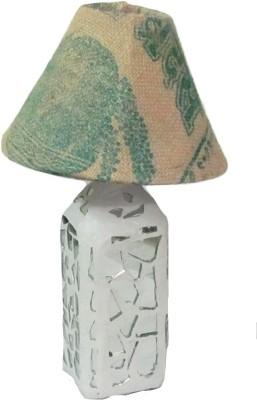Aadhya Creations Rs Mosiac With Gunny Shade Table Lamp