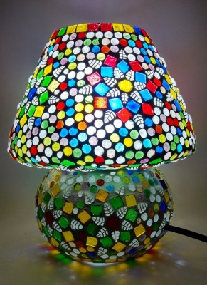Bhomeiaji Handcrafted Glass Table Lamp