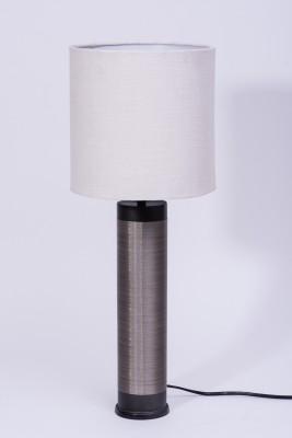 Courtyards Nagaband Grey Metallic With White Shade Table Lamp