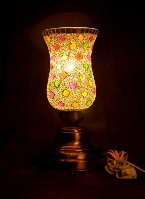 Gojeeva Antique Mosaic Work Decorative 14 Table Lamp