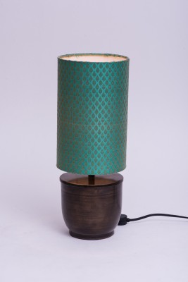 Courtyards Banaras Antique with Teal Shade Table Lamp