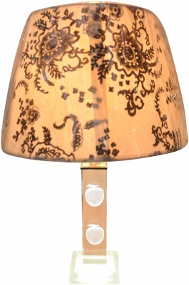 Gojeeva Fabric And Crytal With Led Base Table Lamp