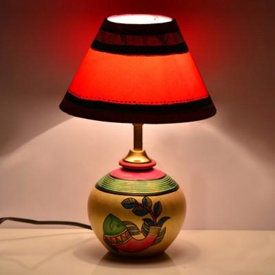 ExclusiveLane Madhubani Handpainted With Matki Base Table Lamp