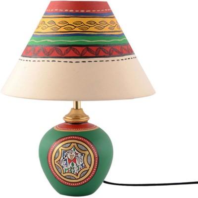 ExclusiveLane 13 Inch Warli Handpainted With Matki Base Table Lamp