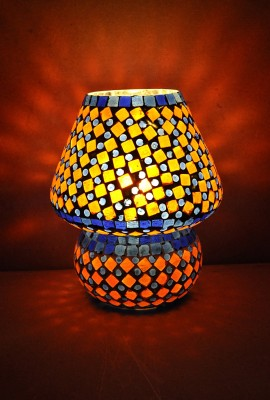 Lal Haveli Glass Mossiac Table Lamp