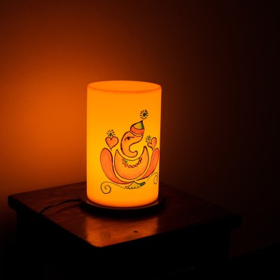 eCraftIndia Lord Ganesha Painted Table Lamp