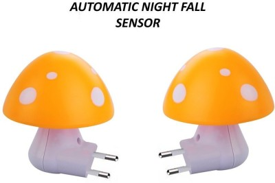 Home Delight Automatic Night Sensor Mushroom Night Lamp Night Lamp