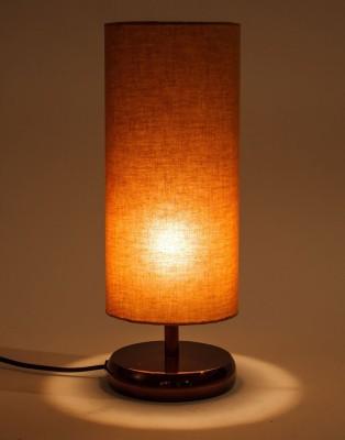 Orange Tree Erudite Copper PC with Mocha cotton Shade Table Lamp