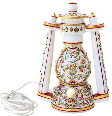 Handicrafts Paradise Emboss Work Lantern Table Lamp
