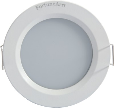 FortuneArrt 9 Watt Round LED Down Light (Warm White) Night Lamp