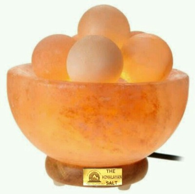The Himalayan Salt Fire Bowl With Ball Table Lamp