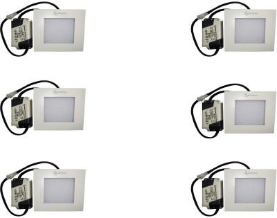 EPSORI 4Watt 6500k White Square Indoor Cosiva Led Down Light Set of 6 Night Lamp