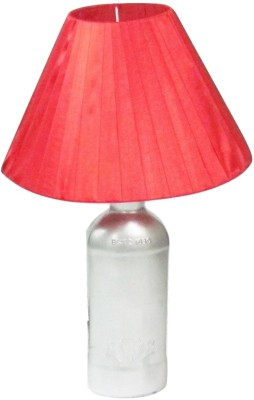 Aadhya Creations Teachers Grey With Red Shade Table Lamp