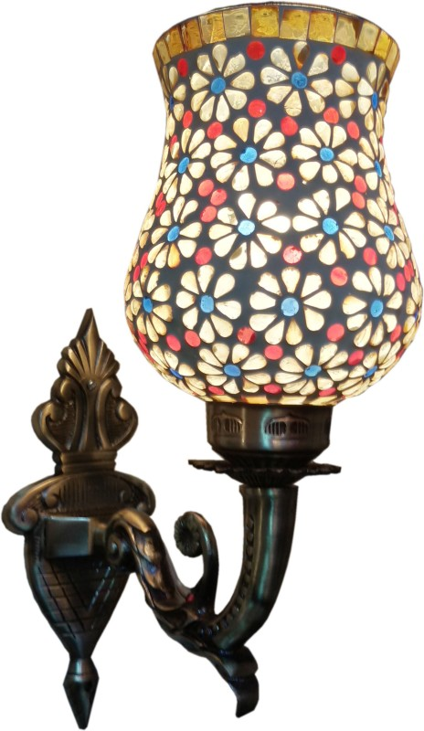Weldecor Antiqua Brasso Magical Stars Night Lamp(30 cm, Multicolor)