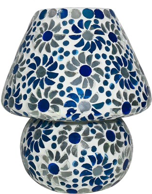 Beadworks Glass Mosaic Table Lamp