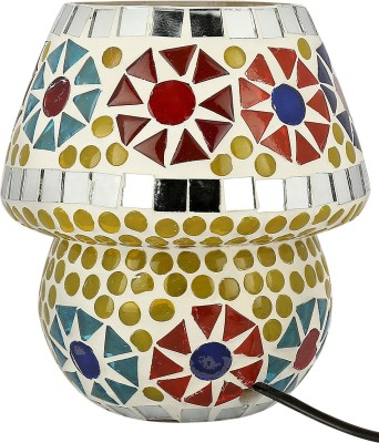Gojeeva Geometrical Table Lamp(14 cm, White, Green, Blue)