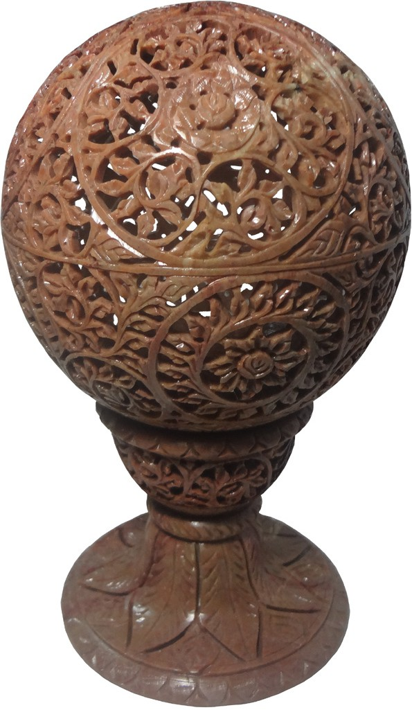 Avinash Handicrafts Stone Candle Ball 6 Inch Carved Stoneware 1 - Cup Tealight Holder(Multicolor, Pack of 1)