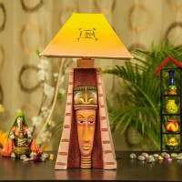 Kalaplanet Handpainted Egyptian Woman Table Lamp(45 cm, Black)