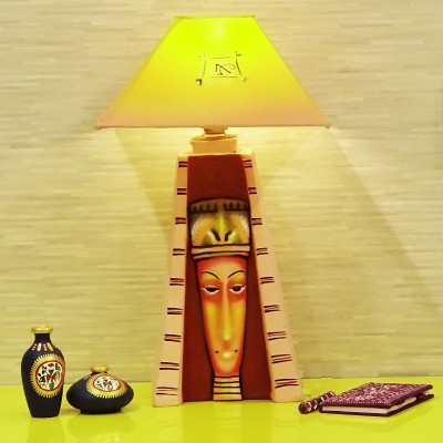 Kalaplanet Handpainted Egyptian Woman Table Lamp