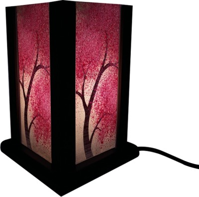 Huppme Gifts Pink Leaf Tree Table Lamp