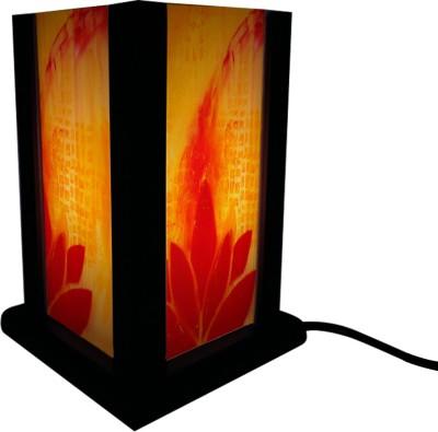 Huppme Gifts Orange Lotus Table Lamp