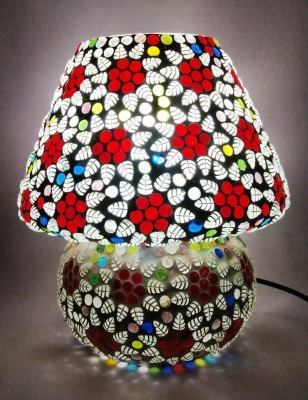 Bhomeiaji Handcrafted Designer Glass Table Lamp