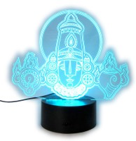 varna crafts Lampees 3D Illusion Balaji LED Night Lamp(18 cm, Black)