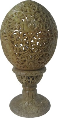 Avinash Handicrafts Stone Egg Lighting 6 inch Carved Table Lamp
