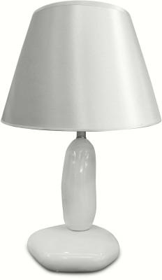 Calmistry Pebble White Ceramic Table Lamp