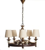 Adithya Lamps Coop Brown & white Chandel...