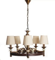 Adithya Lamps Coop Brown & white Chandelier Night Lamp(90 cm, Brown)