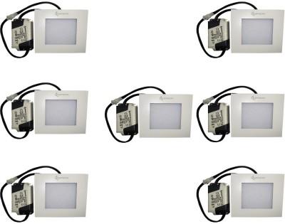 EPSORI 4Watt 6500k White Square Indoor Cosiva Led Down Light Set of 7 Night Lamp