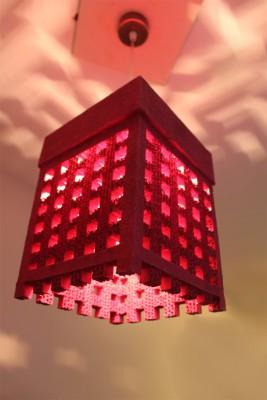 Sylvn Studio Sylvn Lattice Pink Night Lamp