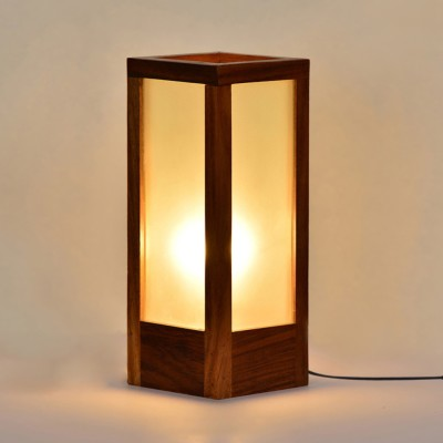 ExclusiveLane 10 Inch Modern Frosted Glass Table Lamp