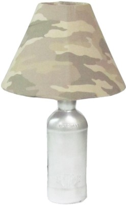 Aadhya Creations Teachers Grey With Army Shade Table Lamp