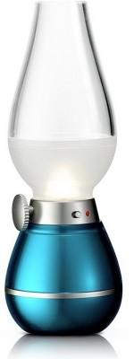 Glitz Led Nightlight Nostalgic Chimini, Blow To On & Off, 3 Step Dimming, Battery Backup Of Upto 4 Hours, 500mah (Blue) … Night Lamp