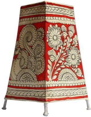 Mynativestore Andhra Handmade Leather Lamp (L x H: 15.24 x 22.86 cms, Red) Table Lamp