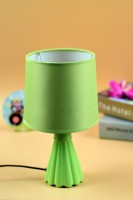 Enfin Homes Shuttlecock Table Lamp(28 cm, Green)