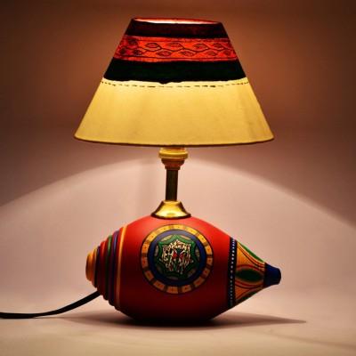 ExclusiveLane Warli Handpainted Shankh Table Lamp