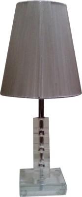 Diya Designs Crystal Look Silver Table Lamp