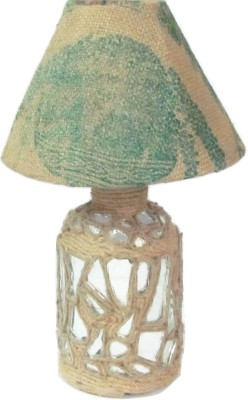 Aadhya Creations Bp Mosiac With Gunny Shade Table Lamp
