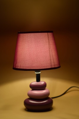 eCraftIndia Elegant Purple Table Lamp