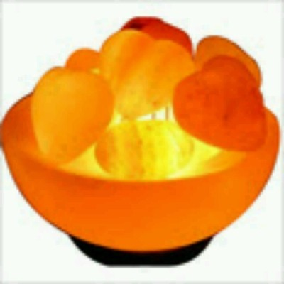 The Himalayan Salt Fire Bowl With Heart Table Lamp