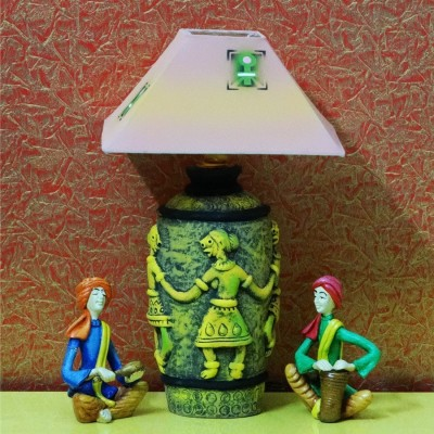 Kalaplanet Handpainted Terracotta Dancing Man Night Lamp